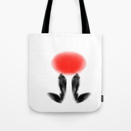 Whattheline Japanese art boots Tote Bag
