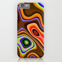 Colourful fluid abstract iPhone Case