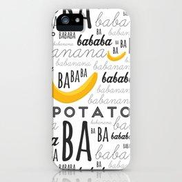 Minion - banana iPhone Case
