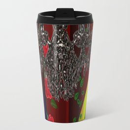 Black Boots in air by chandelier Travel Mug