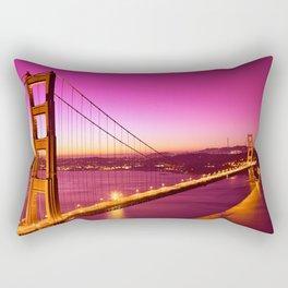 Golden Gate Love Bridge Rectangular Pillow