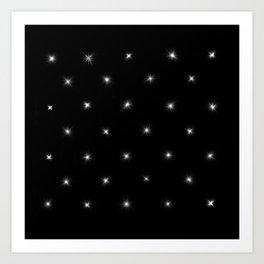Diamond Stars Pattern Art Print