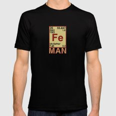 Iron Man Mens Fitted Tee Black MEDIUM