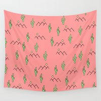cacti Wall Tapestries featuring Cacti by Calepotts