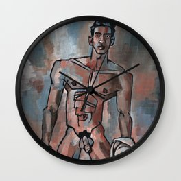 Boy from the River Wall Clock