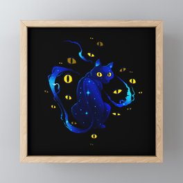 Mystic Cat Framed Mini Art Print