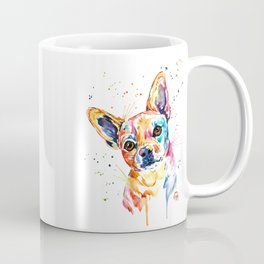 Chihuahua - Tucker - Colorful Watercolor Pet Portrait Painting Coffee Mug