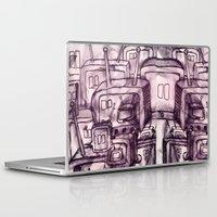 cartoons Laptop & iPad Skins featuring Saturday Morning Cartoons 2: TV Print by Kayleigh Morin
