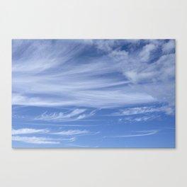 Little wispy clouds Canvas Print