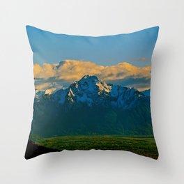 Pioneer Peak - Mat-Su Valley Throw Pillow