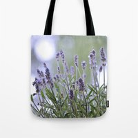 lavender Tote Bags featuring lavender by Artemio Studio