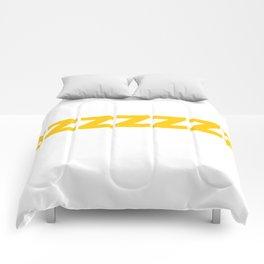 ZZZZZZ Yellow on White Comforters