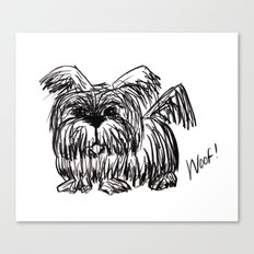 Woof :: A Dust Mop Dog Canvas Print
