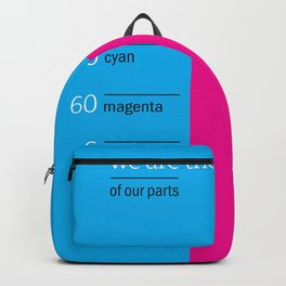 we are the sum of our parts Backpack