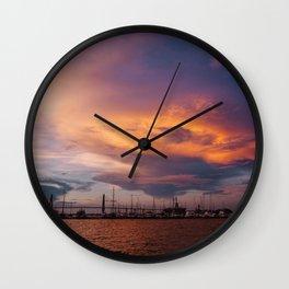 Charleston Sunset XI Wall Clock
