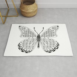 madame butterfly ecopop Rug