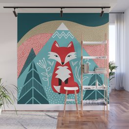 Winter Fox Wall Mural