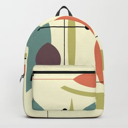 Retro Atomic Hip Abstract Backpack