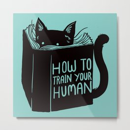 Cat Reader Advice Metal Print