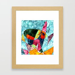 The laughing horse Framed Art Print