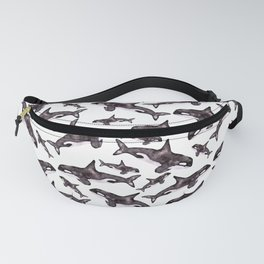 Watercolor Orca's Fanny Pack