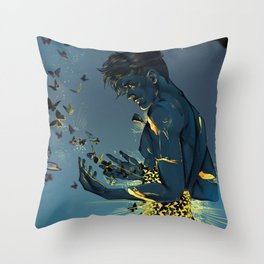 Butterflies in the stomach Throw Pillow