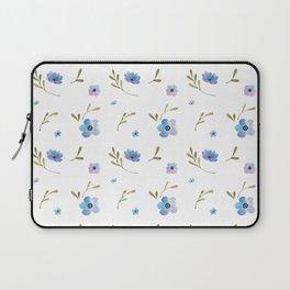 Blue watercolor flowers #2 Laptop Sleeve