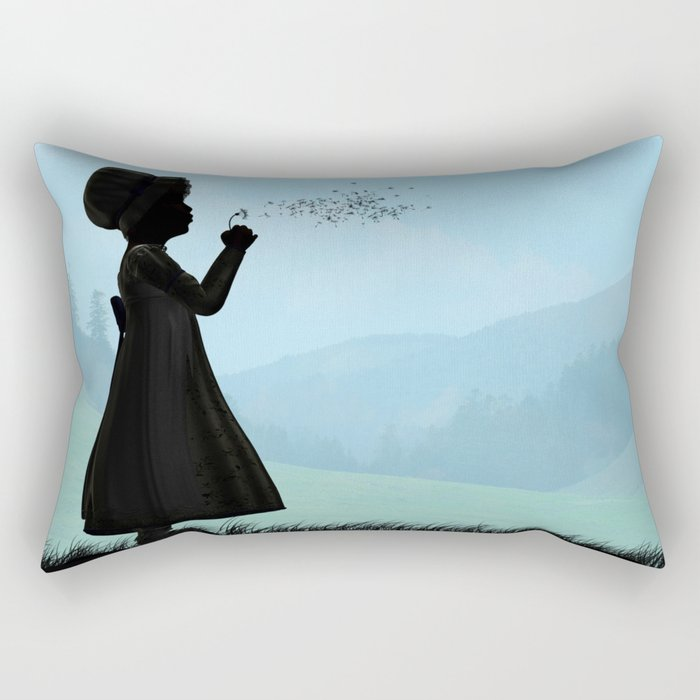 Childhood dreams, One O'Clock Rectangular Pillow