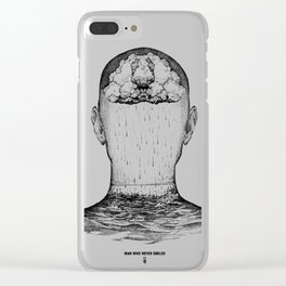 man who never smiled II Clear iPhone Case