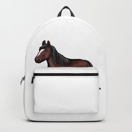 Clydesdale horse Scotish Pony Present Cartoon Backpack