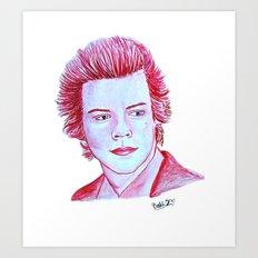 Harry Styles watercolor artwork Art Print