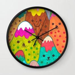 Mountain Friends II Wall Clock