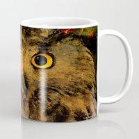owls Mugs featuring Owls by Joe Ganech