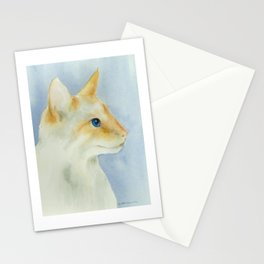 red point siamese cat 1 Stationery Cards