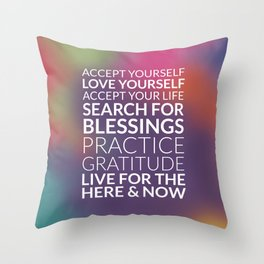 Recipe for Joy Inspirational Quote Throw Pillow