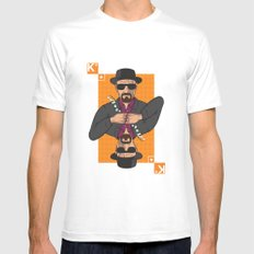 Walter White king of clubs MEDIUM Mens Fitted Tee White