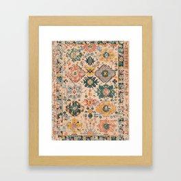 Oriental Vintage Carpet Design Framed Art Print