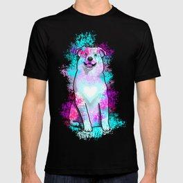 Australian Shepherd in Watercolor Splash T-shirt
