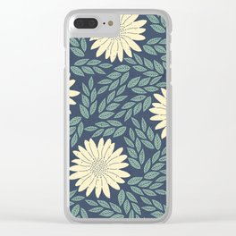 floral cs Clear iPhone Case