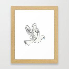 Whatsapp's Carrier Pigeon Framed Art Print