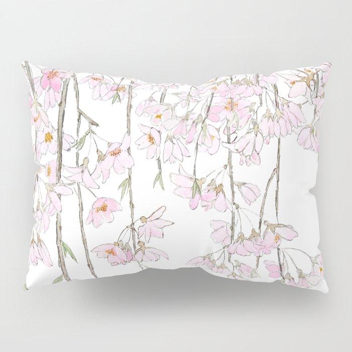 pink cherry blossom spring 2018 Pillow Sham
