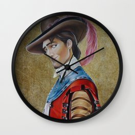 Flynn Rider Historical Portrait. Wall Clock