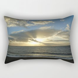 Sunset over Aber Rectangular Pillow