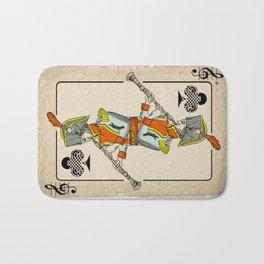 musical poker / Baroque oboe Bath Mat