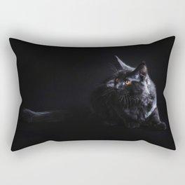 Black Maine Coon Cat Rectangular Pillow