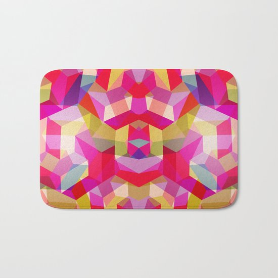 Colourful Twisted rectangles Bath Mat