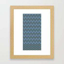 Colorfull Ikat Blue Framed Art Print