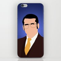 anchorman iPhone & iPod Skins featuring Brick Tamland - Anchorman by Tom Storrer
