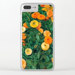 Marigolds by Koloman Moser, 1909 Clear iPhone Case
