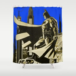 The caped crusader  Shower Curtain